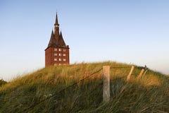 Det västra tornet av ön av Wangerooge Arkivfoto