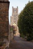 Det västra tornet, Ely Cathedral, Cambridgeshire Fotografering för Bildbyråer