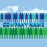 Det växande laget av det företags företaget Arkivbild