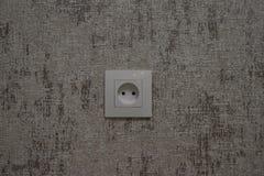 Det vanliga elektriska uttaget i köket royaltyfri foto
