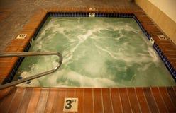 det varma hotellet badar Arkivbild