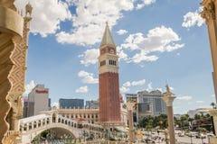 Det Venetian hotell- och kasinotornet Arkivfoton