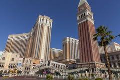 Det Venetian hotellet i dagsljus i Las Vegas, NV på Juni 05, 2013 Royaltyfri Fotografi