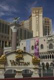 Det Venetian hotellet i Las Vegas, främre sikt Royaltyfri Bild