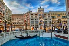 Det Venetian kasinohotellet Macao Arkivfoton