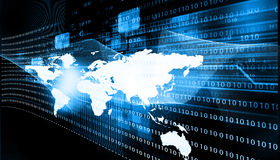 det vidfästa internetnätverket shapes teknologier Arkivfoton