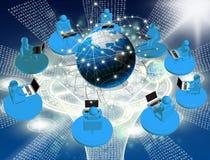 det vidfästa internetnätverket shapes teknologier Arkivbilder
