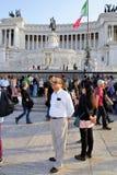 DET VIKTORIANSKT, VITTORIO EMANUELE MONUMENT, VENEDIG PLAZA, HISTORISK MITT FÖR ROME ` S, ITALIEN Fotografering för Bildbyråer