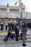 DET VIKTORIANSKT, VITTORIO EMANUELE MONUMENT, VENEDIG PLAZA, HISTORISK MITT FÖR ROME ` S, ITALIEN Royaltyfri Foto