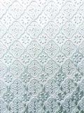 Det vit texturerade fönstret förser med rutor Royaltyfri Fotografi