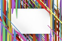 Det vita banret på bakgrundsfärgen av fragmenten Arkivbilder