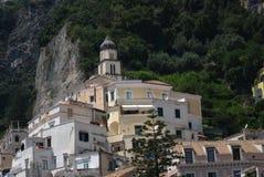 Det vita huset i Amalfi Fotografering för Bildbyråer