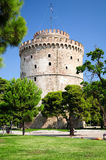 Det vita tornet av Thessaloniki Arkivfoton