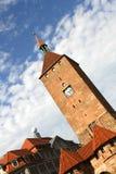 Det vita tornet i Nuremberg Arkivfoto