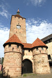 Det vita tornet i Nuremberg Fotografering för Bildbyråer