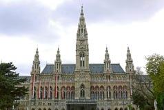 Det Wien stadshuset, Wien _ Royaltyfria Foton