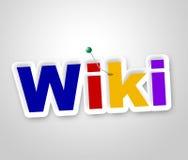 Det Wiki tecknet visar world wide web och rådgivaren Arkivfoton