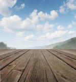 Wood däck Arkivbild