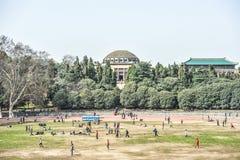 Det Wuhan universitetet lokaliseras i Wuhan, Hubei, Kina arkivfoton