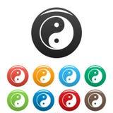 Det Ying yang symbolet av harmoni och balanserar vektor illustrationer