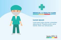 Det yrkesmässiga medicinska laget för vård- livbegrepp Arkivfoton
