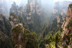 Zhangjiajie berg royaltyfri bild
