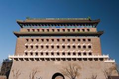 Det Zhengyangmen bågskyttetornet (det Qianmen bågskyttetornet) Arkivfoton