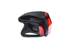 Detachable bicycle safety red blinking tail LED light. Stock Photos