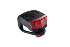 Detachable bicycle safety red blinking tail LED light. Royalty Free Stock Photos
