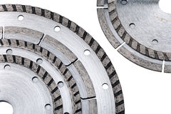 Detachable disks for are sharp construction materials Royalty Free Stock Images