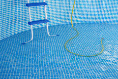 Detachable swimming pool. Detail. Symbol of relax, vacations and happiness Stock Photography