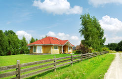 Detached country home. Royalty Free Stock Images