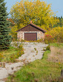 Detached garage and driveway Stock Images