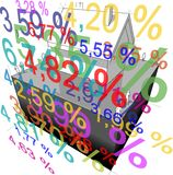 "Detached house + ""interest rate percentage"" diagram Stock Image"