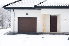 Free Detached House During Winter Time Stock Photography - 50700592