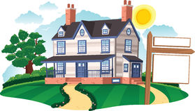 Detached house Royalty Free Stock Image