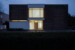 Detached house at night Royalty Free Stock Photo