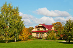 Detached house. Royalty Free Stock Photography