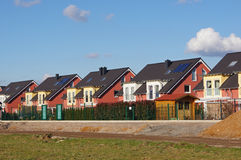 Detached houses. In a development area in Germany Stock Image