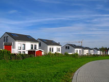 Detached houses. In a development area in Germany Stock Photography