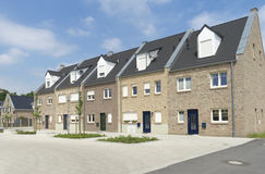 Detached houses. Newly build detached houses in Gronau, Germany Royalty Free Stock Images
