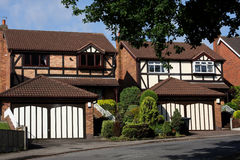 Detached Houses. Modern detached houses in a U.K. suburb Royalty Free Stock Photo