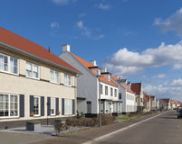Detached houses. Newly build modern detached houses in Borne, Netherlands Stock Photo