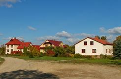 Detached houses. Stock Images