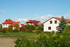 Detached houses. Royalty Free Stock Photography