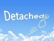 Detached message cloud shape. On blue sky royalty free illustration