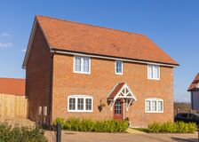 Free Detached New Build Home. UK Stock Photo - 212898100