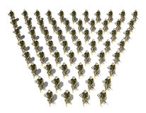 Detachment of soldiers Stock Photo