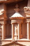 Detaiil of treasury (Al-Khazneh) in  Petra Royalty Free Stock Photos