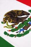 Detail über die Flagge von Mexiko Stockbild